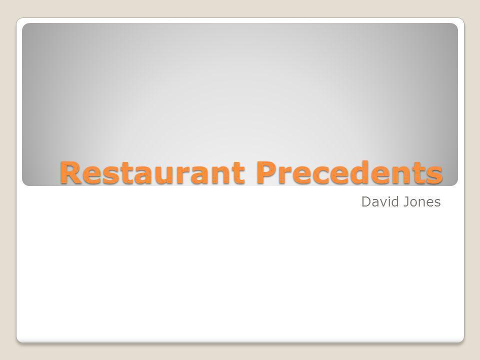 Restaurant Precedents David Jones