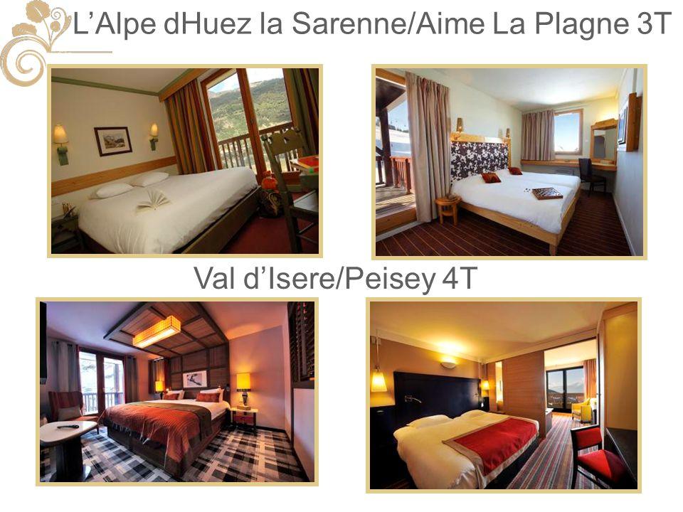 LAlpe dHuez la Sarenne/Aime La Plagne 3T Val dIsere/Peisey 4T