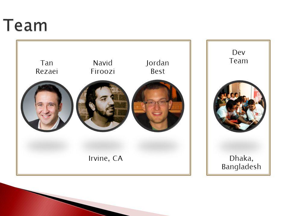 Team Irvine, CADhaka, Bangladesh Tan Rezaei Navid Firoozi Jordan Best Dev Team
