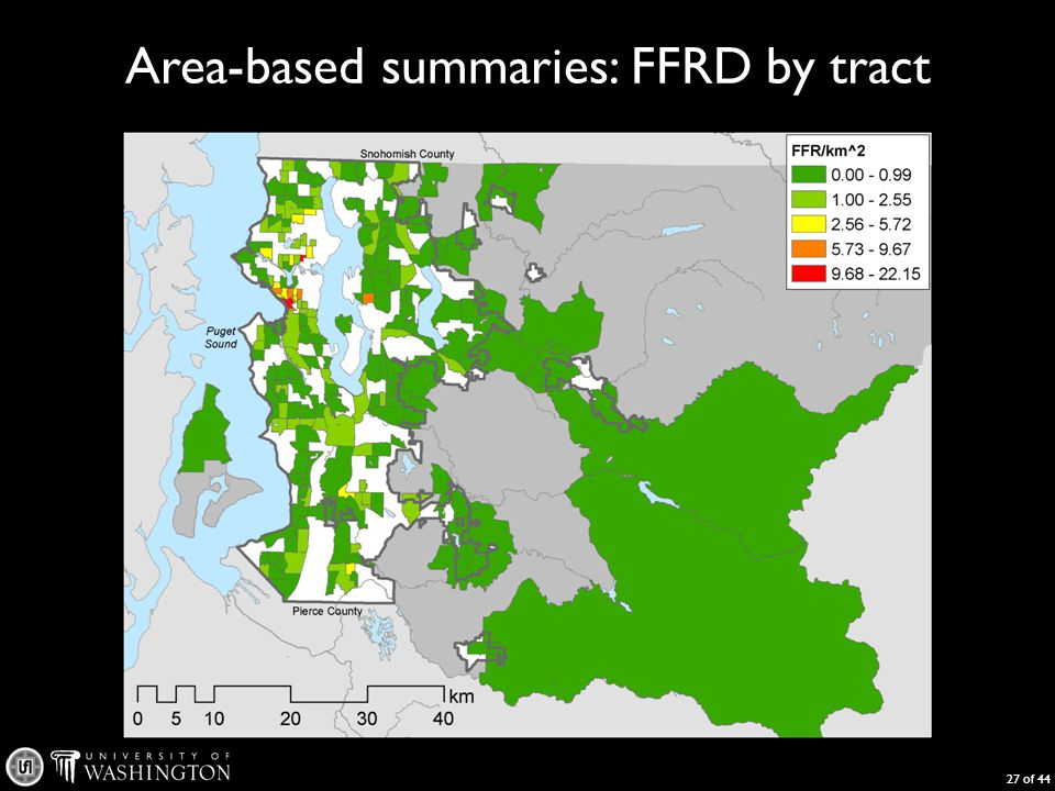 Area-based summaries: FFRD by tract 27 of 44