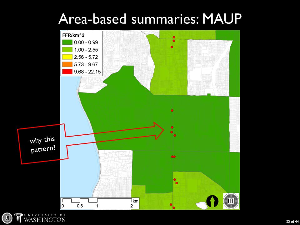 Area-based summaries: MAUP 32 of 44 why this pattern