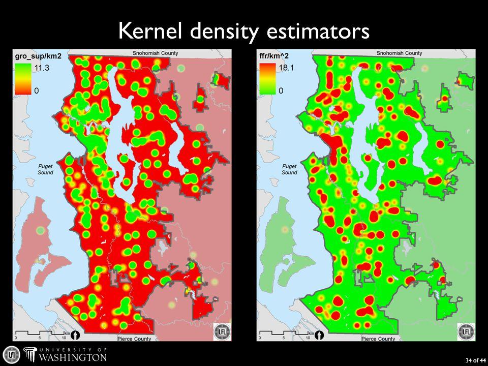 Kernel density estimators 34 of 44