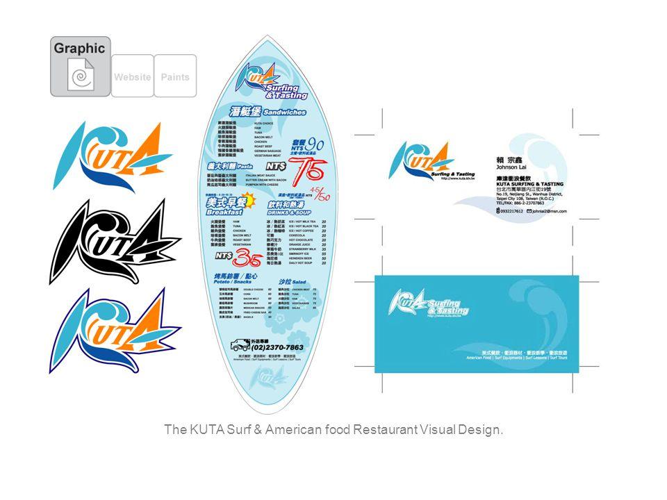 The KUTA Surf & American food Restaurant Visual Design.