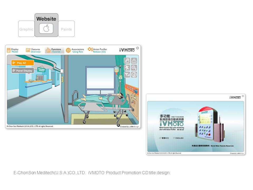 E-ChonSon Meditech(U.S.A.)CO.,LTD. iVMOTO Product Promotion CD title design.