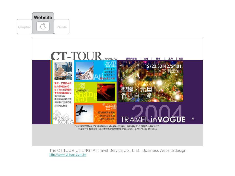 The CT-TOUR CHENG TAI Travel Service Co., LTD. Business Website design. http://www.ct-tour.com.tw