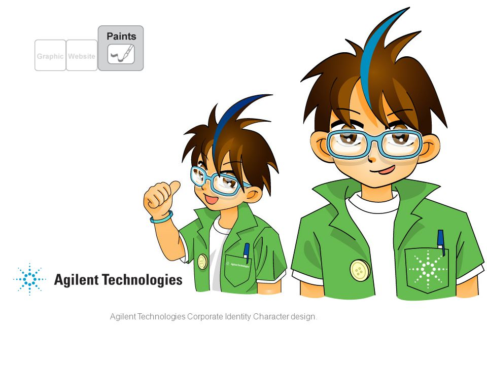 Agilent Technologies Corporate Identity Character design.