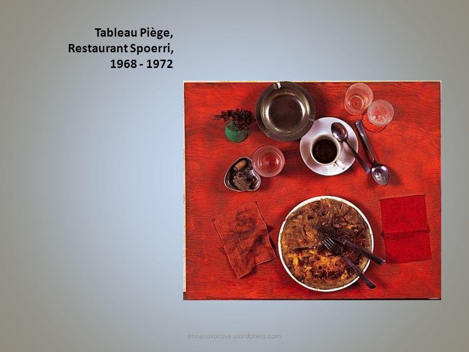 Tableau Piège, Restaurant Spoerri, 1968 - 1972 annasuvorova.wordpress.com