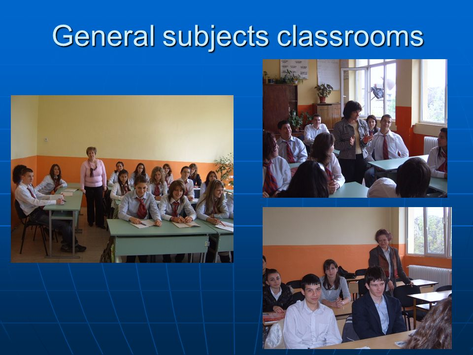 General subjects classrooms