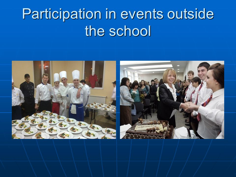 Participation in events outside the school
