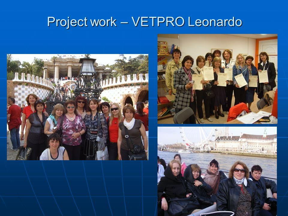 Project work – VETPRO Leonardo