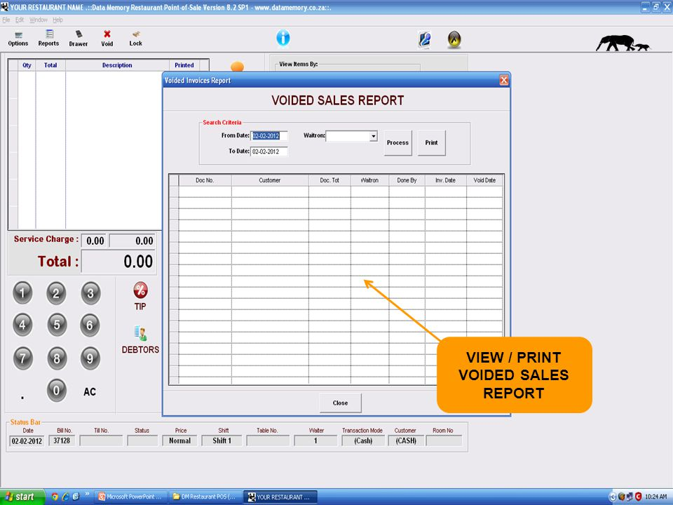 VIEW / PRINT VOIDED SALES REPORT