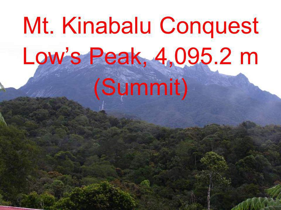Mt. Kinabalu Conquest