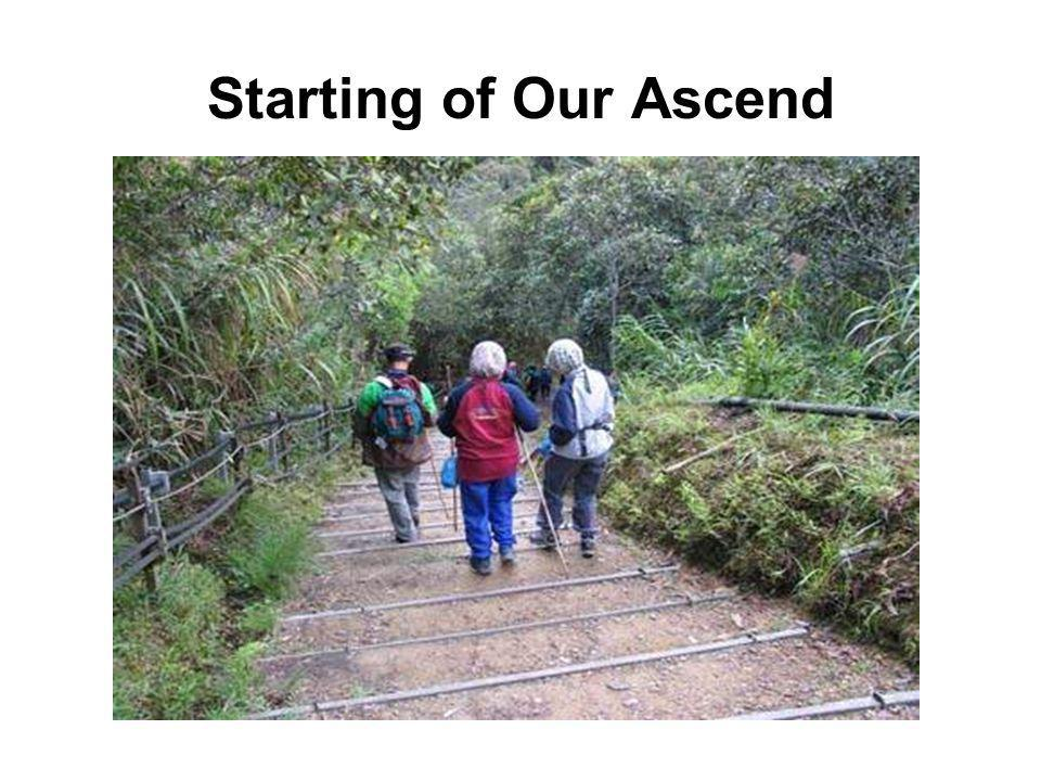 Starting of Our Ascend