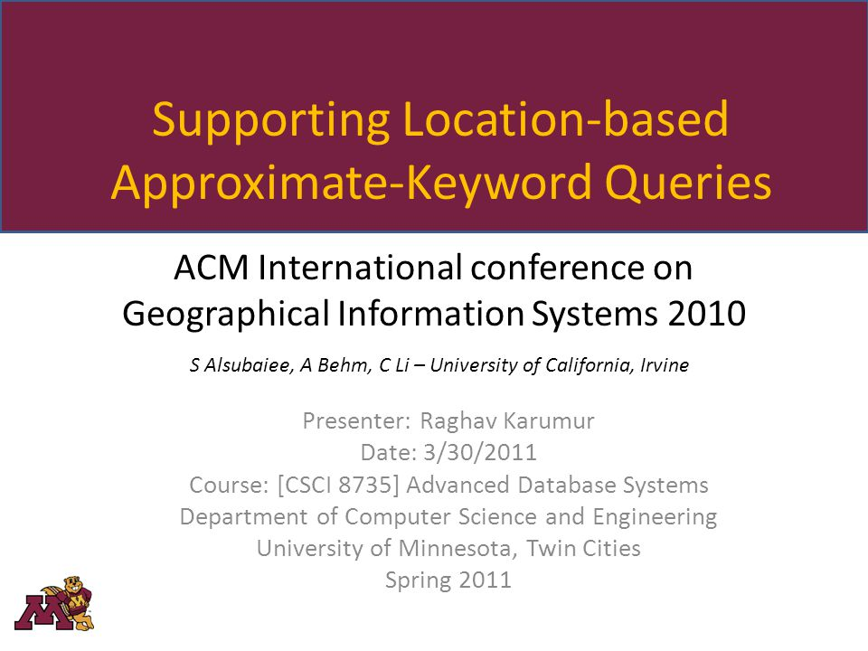 Lunch Time.2 Advanced Database Systems Raghav Karumur Spring 2011 Ill go for Chinese food.