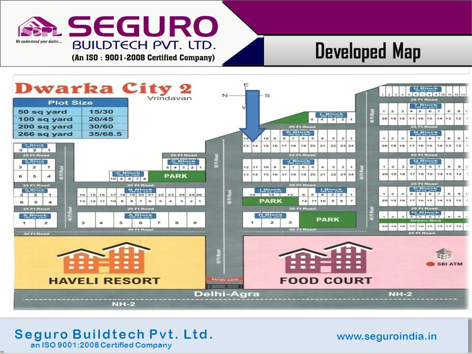 www.seguroindia.in Seguro Buildtech Pvt. Ltd. an ISO 9001:2008 Certified Company Developed Map