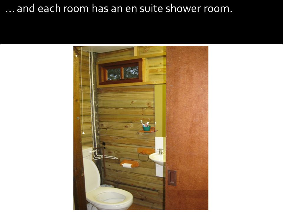 ... and each room has an en suite shower room.