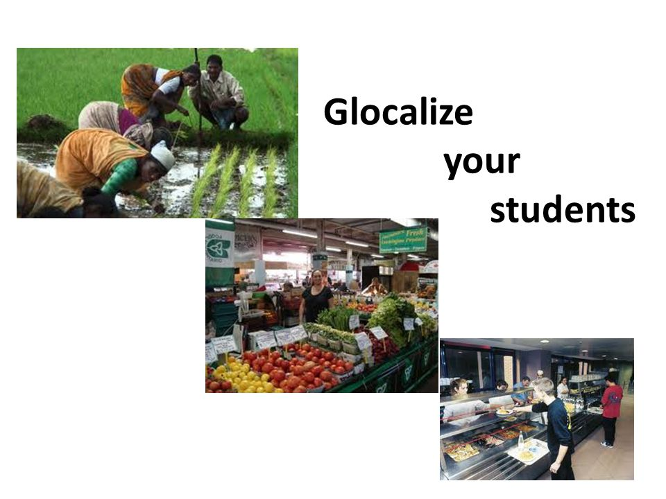 Glocalize your students