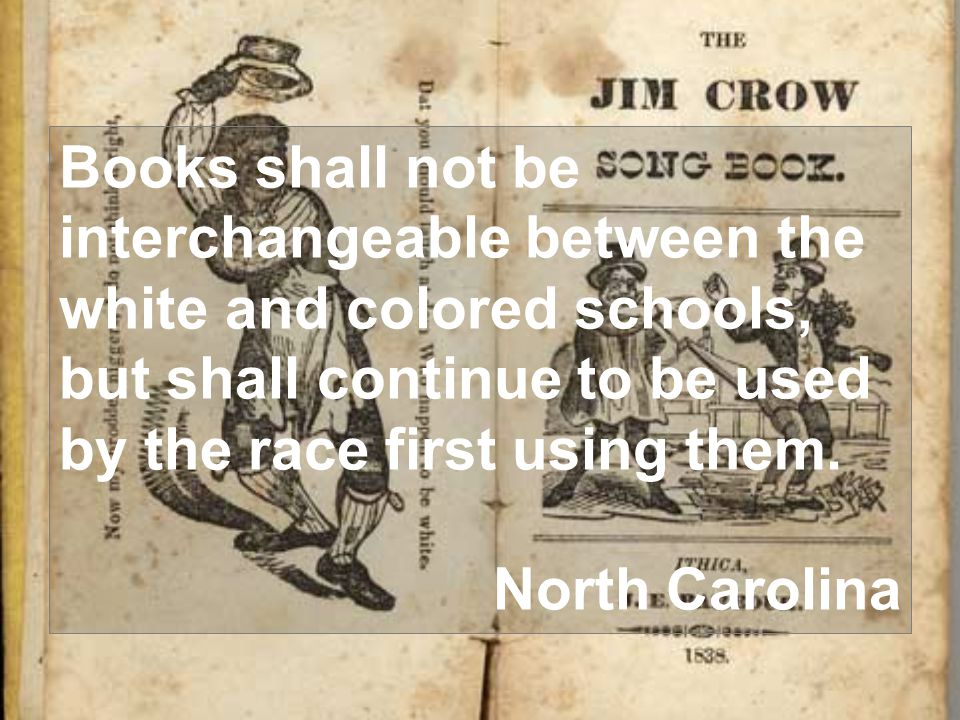 Books shall not be interchangeable between the white and colored schools, but shall continue to be used by the race first using them.