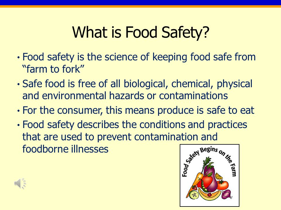 What is Food Safety.