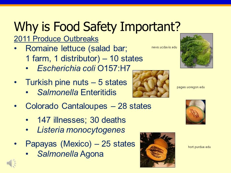 Some FSMA / GAPs Resources FSMA: http://www.fda.gov/Food/GuidanceRegulation/FSMA/ default.htm http://www.fda.gov/Food/GuidanceRegulation/FSMA/ default.htm FDA Guide to Minimize Microbial Food Safety Hazards for Fresh Fruits and Vegetables: http://www.fda.gov/downloads/Food/GuidanceCompli anceRegulatoryInformation/GuidanceDocuments/Prod uceandPlanProducts/UCM169112.pdf http://www.fda.gov/downloads/Food/GuidanceCompli anceRegulatoryInformation/GuidanceDocuments/Prod uceandPlanProducts/UCM169112.pdf