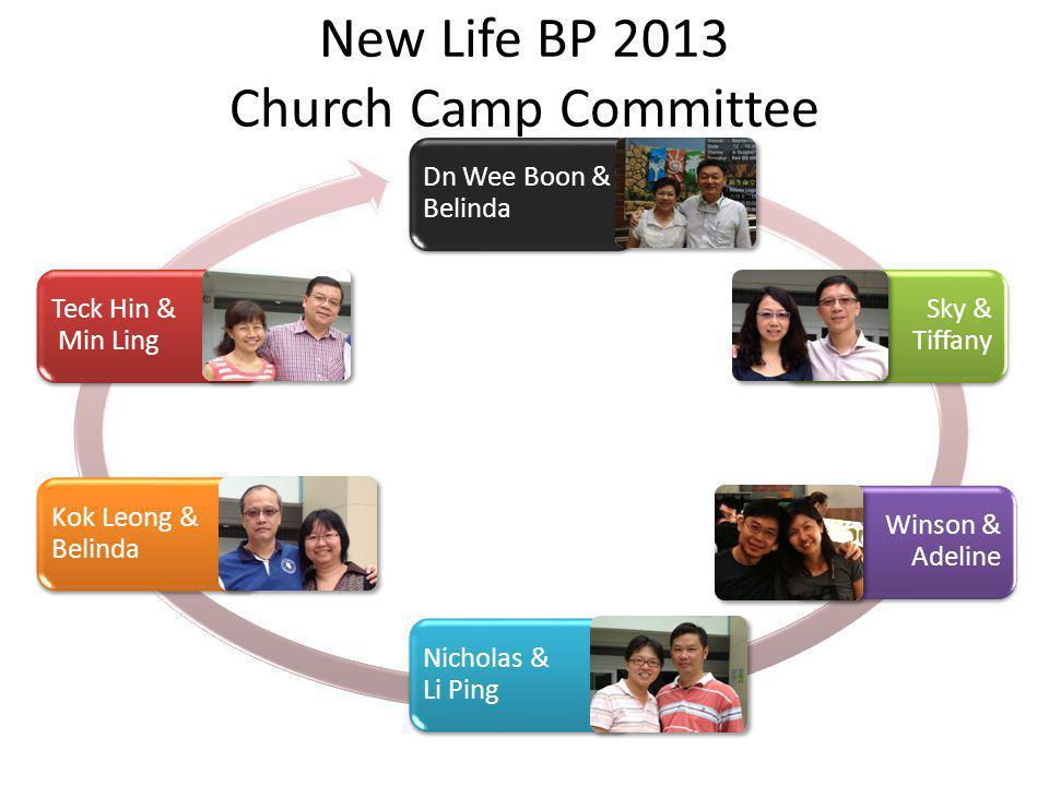 New Life BP 2013 Church Camp Committee
