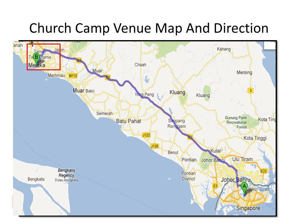 Church Camp Venue Map And Direction
