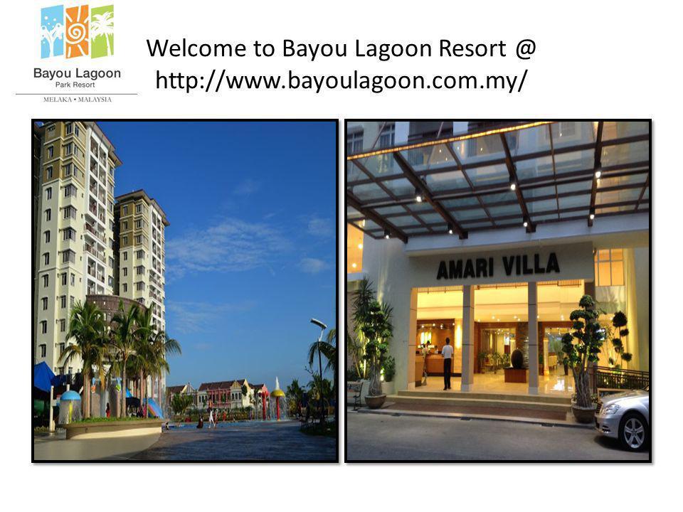 Welcome to Bayou Lagoon Resort @ http://www.bayoulagoon.com.my/