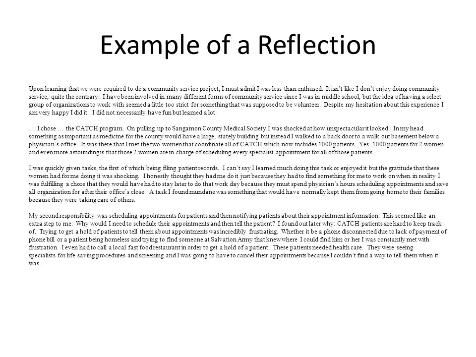 reflective essay on a book