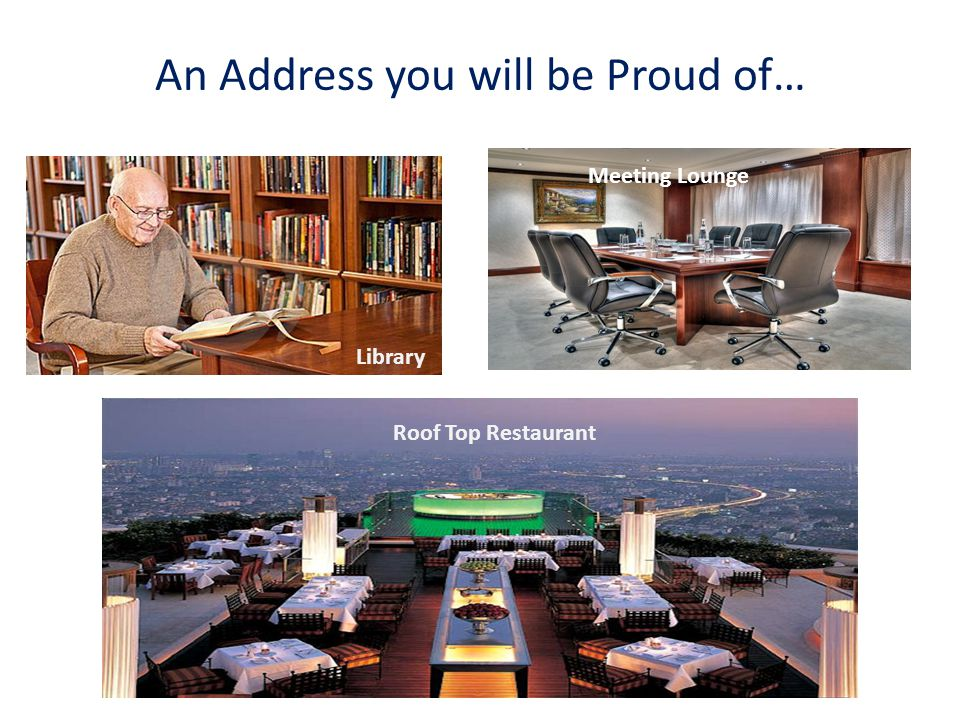 An Address you will be Proud of… Library Roof Top Restaurant Meeting Lounge