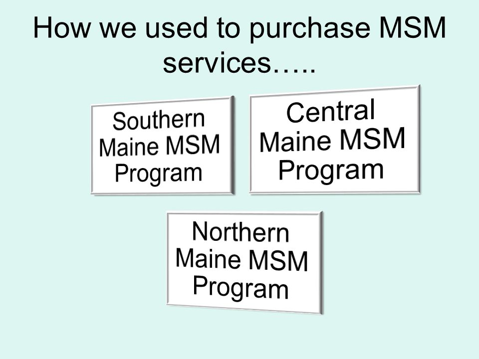 How we used to purchase MSM services…..