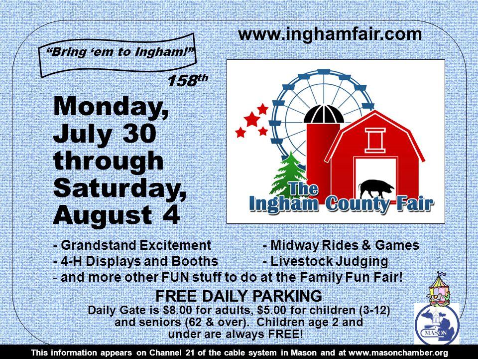 www.inghamfair.com Bring em to Ingham.