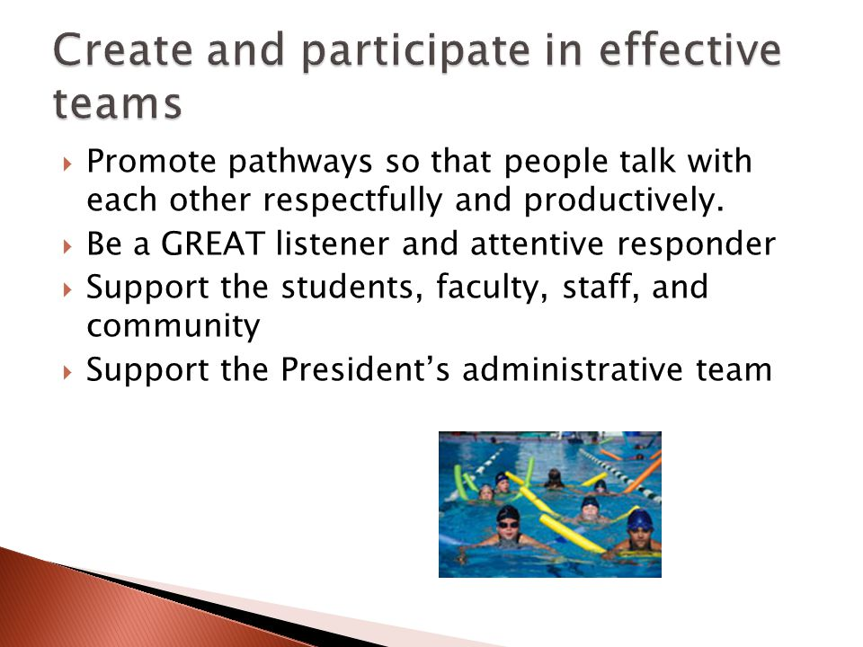 Promote pathways so that people talk with each other respectfully and productively.