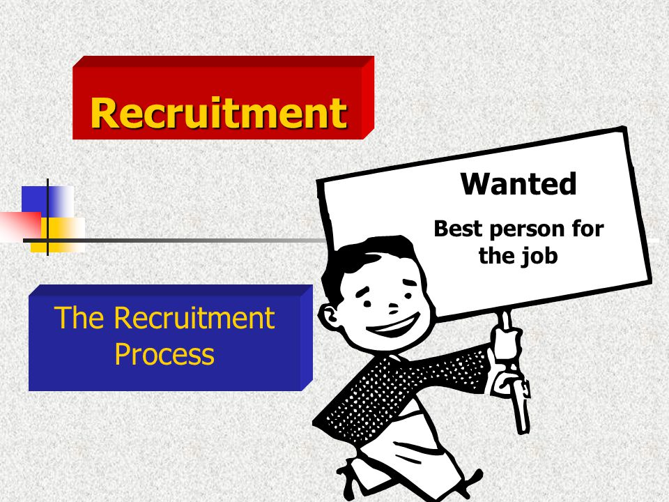 The Recruitment Process Wanted Best person for the job Recruitment