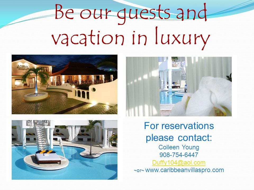 NEW PRICES: Crown Villas $850.00 NEW PRICES: (Effective: October, 2010) Crown Villas 3-Bedrooms 3.5 bathrooms $850.00 per week Mandatory All-inclusive Fee in Villas: $67.50 per person, per day – 50% reduction for children 3-12