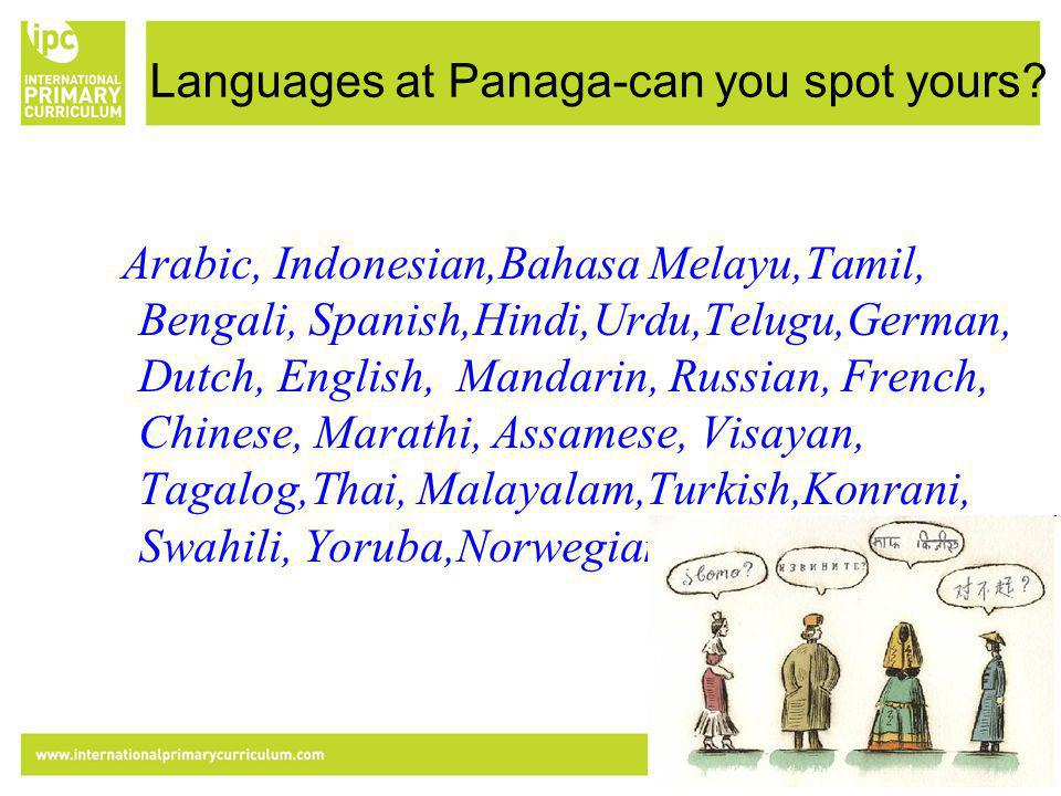 Languages at Panaga-can you spot yours.