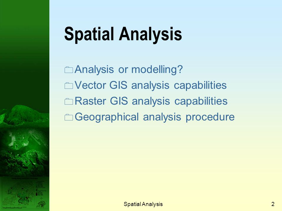 Spatial Analysis22 Buffering example