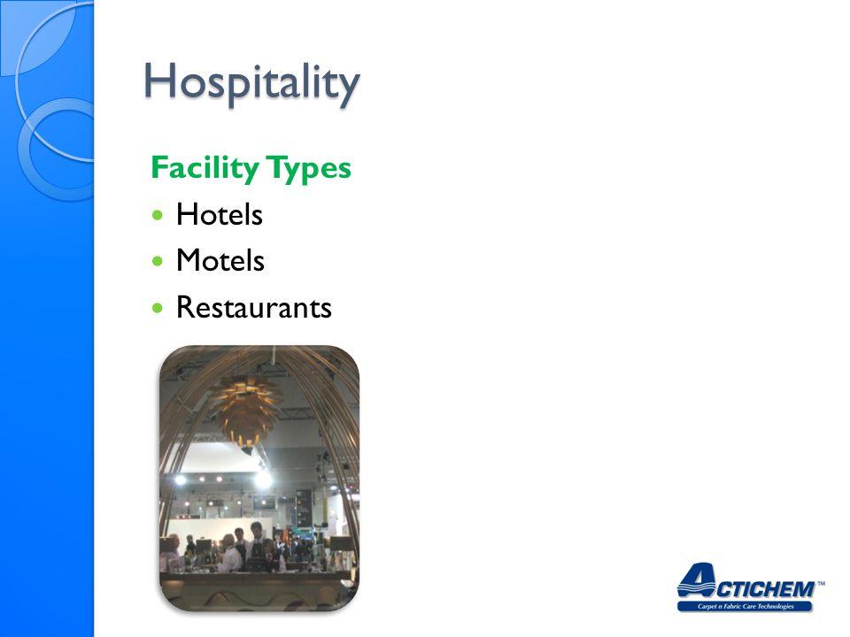 Hospitality Facility Types Hotels Motels Restaurants