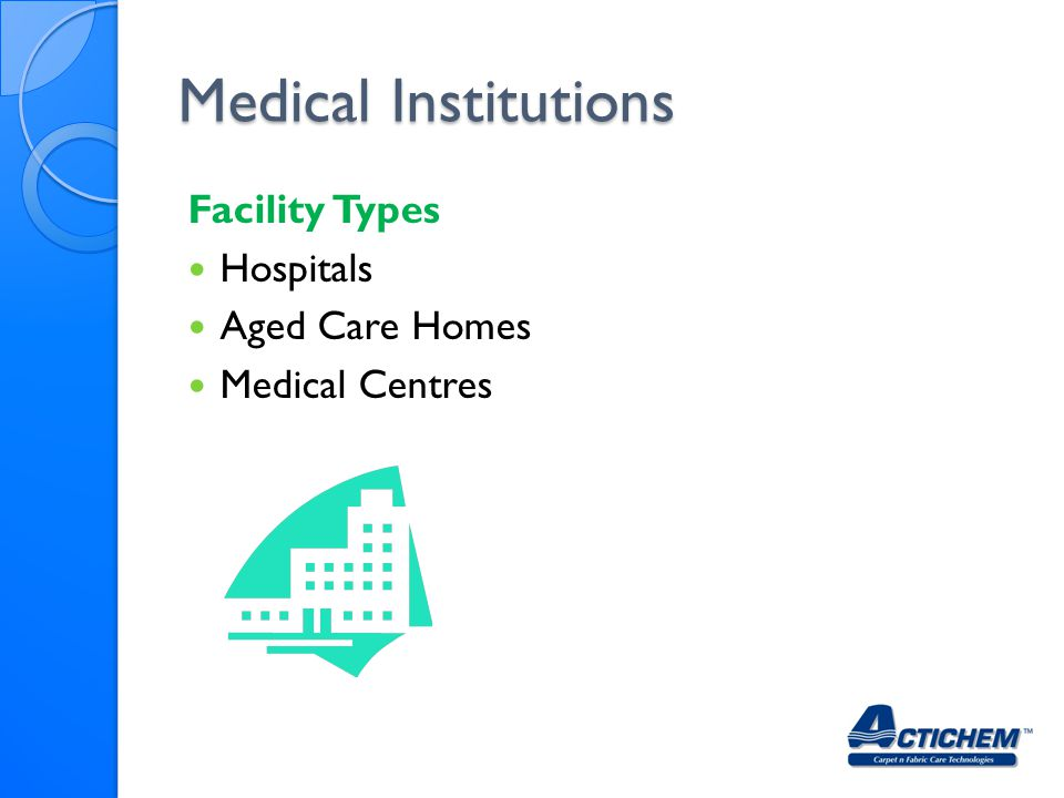 Medical Institutions Facility Types Hospitals Aged Care Homes Medical Centres