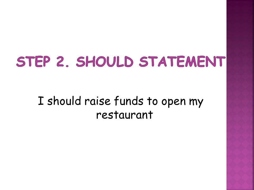 I should raise funds to open my restaurant