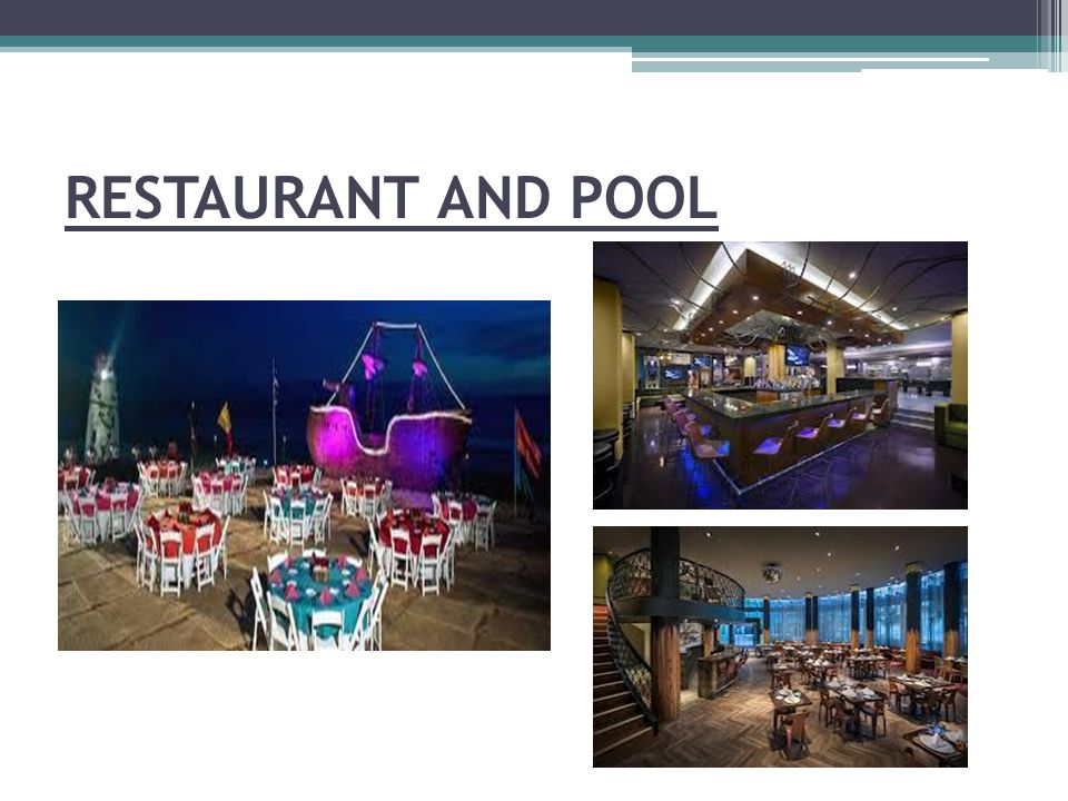 RESTAURANT AND POOL