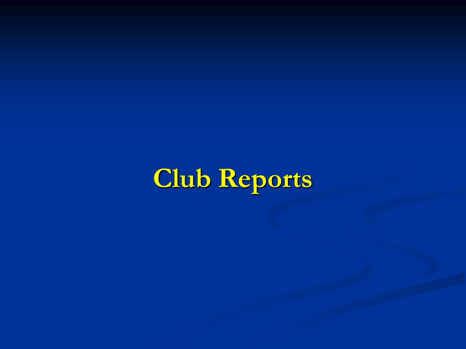 Club Reports