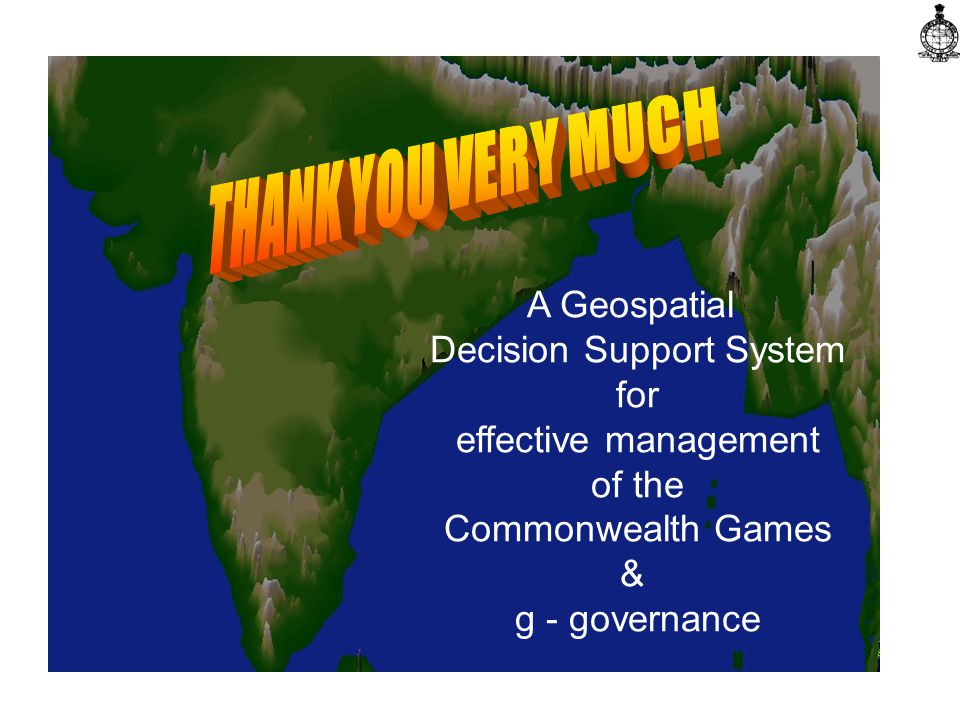 A Geospatial Decision Support System for effective management of the Commonwealth Games & g - governance