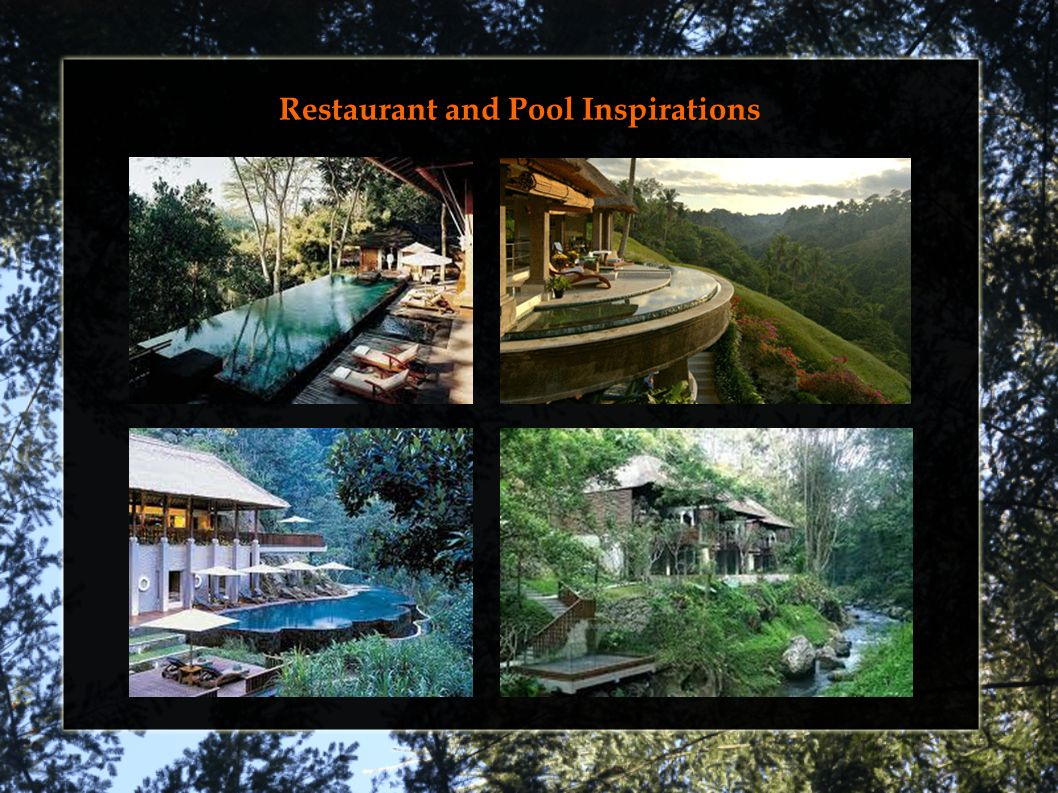 Restaurant and Pool Inspirations