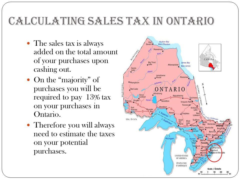 13% H.S.T. in Ontario As a decimal number.13