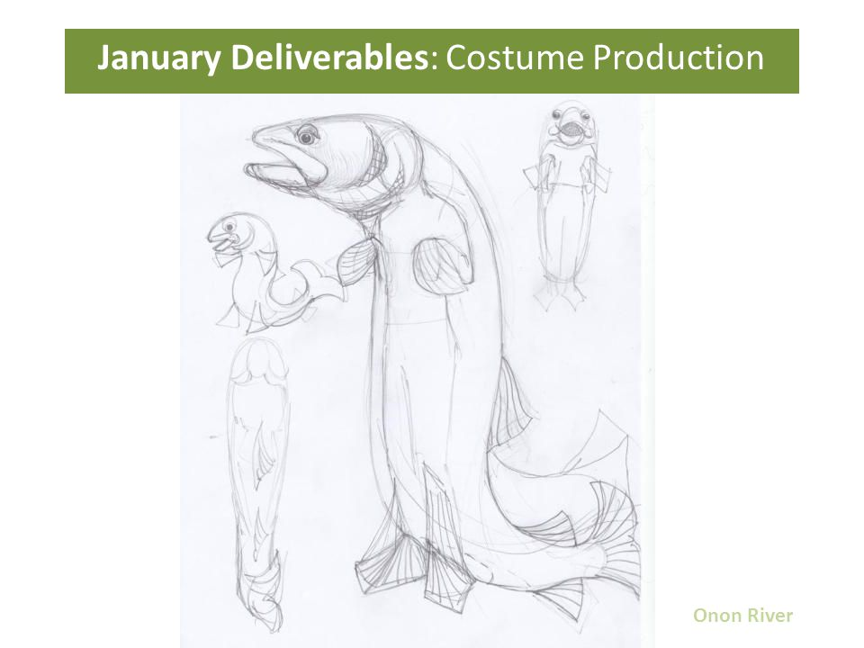 January Deliverables: Costume Production Onon River