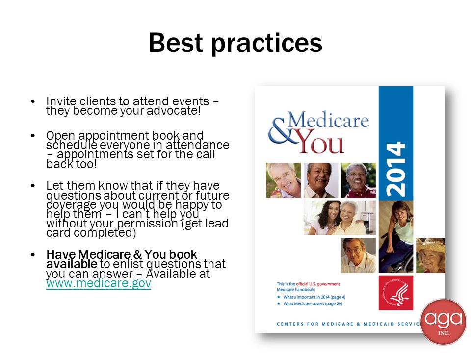 Best practices Invite clients to attend events – they become your advocate.