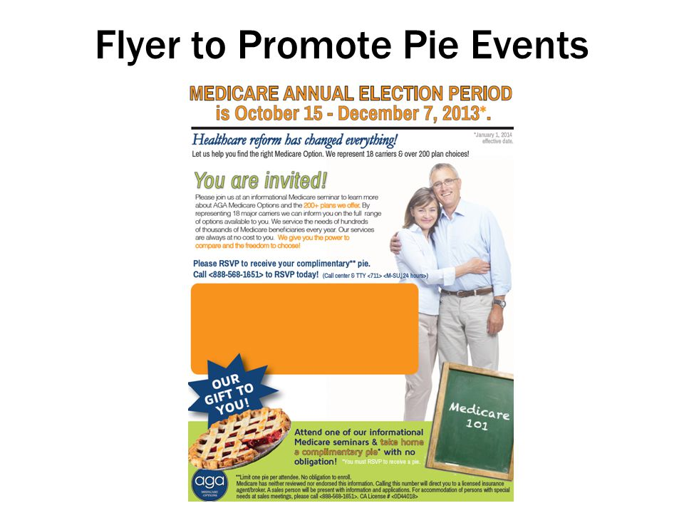 Flyer to Promote Pie Events