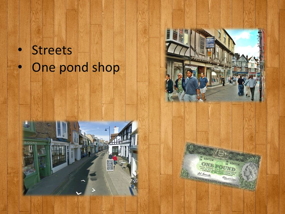 Streets One pond shop