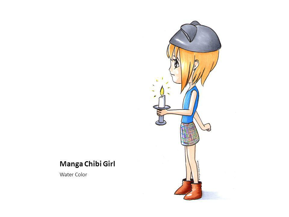 Manga Chibi Girl Water Color