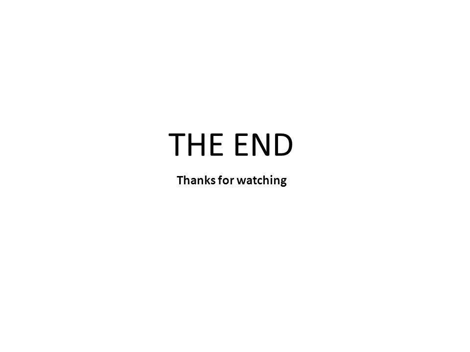 Thanks for watching THE END